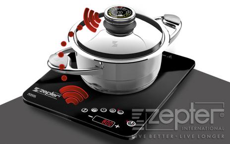 Jak spárovat rádiový digitální termokontrol Zepter s rádiovým indukčním vařičem Zepter?