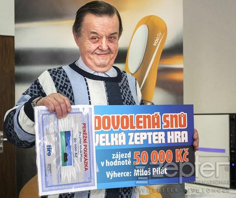 Miloš Pilát, výherce 4. čtvrtletní hry VZH 2014 - Dovolená snů
