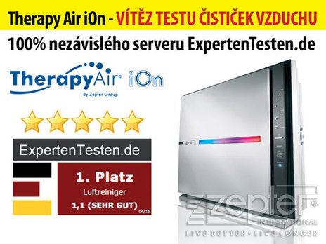 Čistička vzduchu Therapy Air iOn je zasloužilým vítězem testu díky nejlepším výsledkům i nejvyššímu komfortu